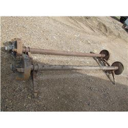 2 mobile home axles 8½ ft