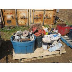 Electric boxes & supplies, concrete tools, cast flangs, etc