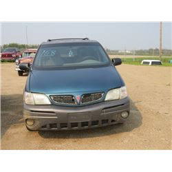 2002 Pontiac Montanna VIN 1GMDX03E12D238614, SK Reg, as is