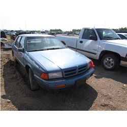 1995 Dodge Spirit, keys, as is, salvage, VIN 1B3XA46K2SF560583