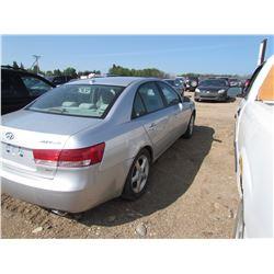 2008 Hyundai Sonata, keys, SK Reg. As is, VIN 5NPET46F38H324218