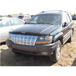 2001 Jeep Gr. Cherokee, 4WD, keys, SK Reg. As is, VIN 1J4GW48S91C706923