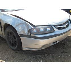 2005 Chev Impala, no keys, as is, Salvage, VIN 2G1WF52E059367842