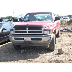 1999 Dodge Ram Quad Cab, keys, as is, salvage, VIN 3B7HF13Y0XG170129