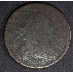 1806 DRAPED BUST HALF CENT, AG