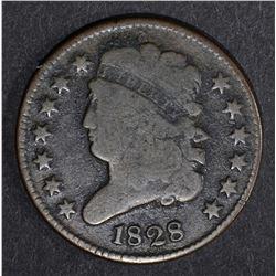 1828 CLASSIC HEAD HALF CENT F/VF
