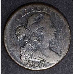 1807/6 LARGE CENT S-273 FINE