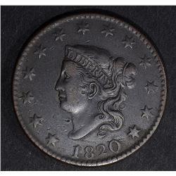 1820/19 LARGE CENT N-1 VF/XF