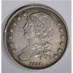 1831 BUST QUARTER, VF NICE