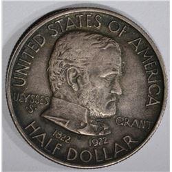 1922 GRANT HALF DOLLAR, AU