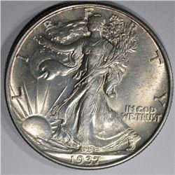 1937 WALKING LIBERTY HALF DOLLAR, CH BU