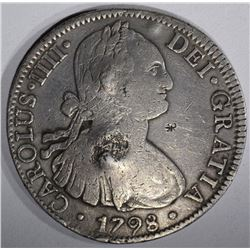 1798 MEXICO 8 REALES chopmarked