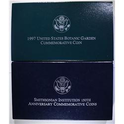 1996 Smithsonian & 1997 Botanic Garden Commems