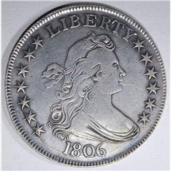1806 DRAPED BUST HALF DOLLAR  AU