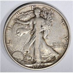1920 WALKING LIBERTY HALF DOLLAR  XF