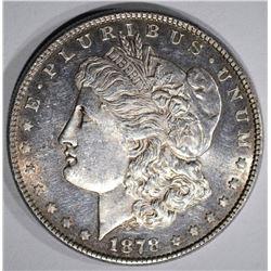 1878 8TF MORGAN DOLLAR BU PL