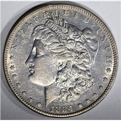 1884-S MORGAN DOLLAR  AU+