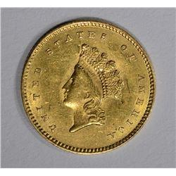1854 GOLD $1 DOLLAR TYPE 2  CH BU