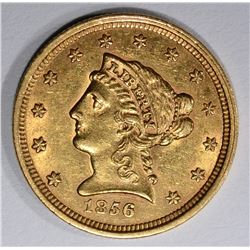 1856 $2 1/2 GOLD LIBERTY HEAD  CH BU