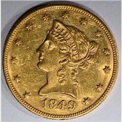 1849 $10 GOLD LIBERTY HEAD  BU