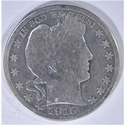 1915 BARBER HALF DOLLAR, GOOD