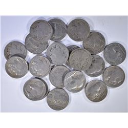 20-BETTER DATE BUFFALO NICKELS AS LISTED: