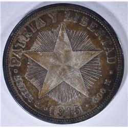 1915 UN PESO-CUBA RARE!
