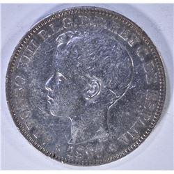 1897 UN PESO-PHILIPPINES SCARCE