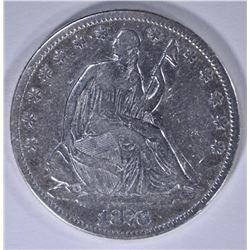 1876 SEATED HALF DOLLAR, F/VF