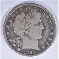 1903-O BARBER HALF DOLLAR, FINE