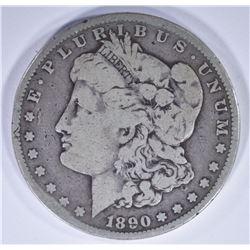 1890-CC MORGAN DOLLAR, FINE