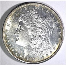 1886-S MORGAN DOLLAR, AU++/CH BU