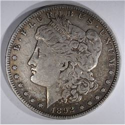 1892-S MORGAN DOLLAR, ABOUT XF