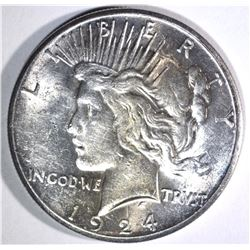 1924-S PEACE DOLLAR, CH BU+