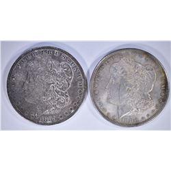 1883-O & 1900 CH BU MORGAN DOLLARS