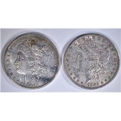 1885-S XF/AU & 1897-O AU ORIG MORGAN DOLLARS