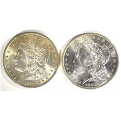 1883-O & 1896 MORGAN DOLLARS CH BU