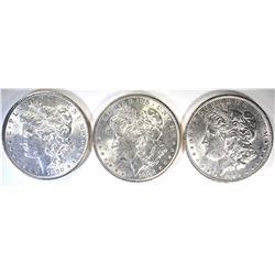 1-1885 & 2-1890 BU MORGAN DOLLARS