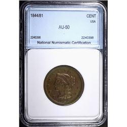 1844/81 LARGE CENT NNC AU KEY DATE