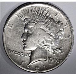 1921 PEACE DOLLAR  XF