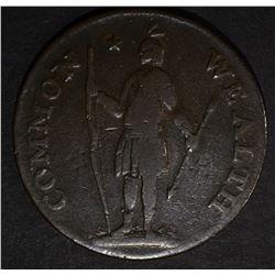 1787 COLONIAL MASSACHUSETTS CENT  XF
