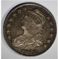 1822 CAPPED BUST HALF DOLLAR  XF-AU