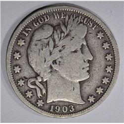 1903-S BARBER HALF DOLLAR FINE