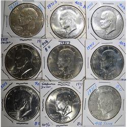 9 - 1971-S 40% SILVER IKE DOLLARS