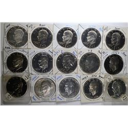 15 - CLAD IKE PROOF DOLLARS; includes