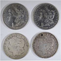 4 - MORGAN CIRC DOLLARS; 2  1900-O