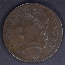 1809 HALF CENT, VF