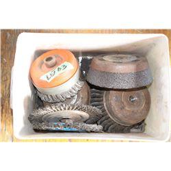 Box of Wire Wheels & Grinding Wheels