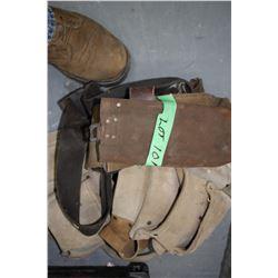 Carpenter Tool Belt & 2 Welding Rod Pouches