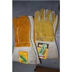 Pr of Welders Gloves & Pr of Welders Mitts